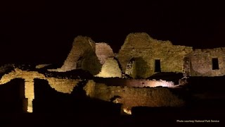 Light Show at Aztec Monument