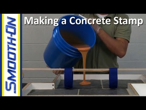 Concrete - How to Make a Concrete Stamp Using PMC-780 Contents: 0:41 - Stone Paver Model Preparation 1:33 - Stone Paver Layout 3:32 - Making the Mold Box 4:46 - Creatin...