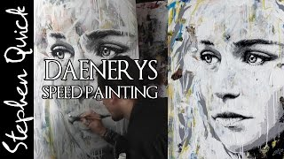 Daenerys Speed Painting by Stephen Quick - http://www.splinteredstudios.com/Daenerys-GameOfThrones-Painting.html Subscribe!