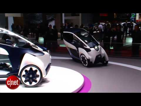 TOYOTA CONCEPT CAR - http://cnet.co/13Fa455 CNET's Antuan Goodwin previews the Toyota i-Road concept, a tandem two-seater that runs on electric power and uniquely maneuvers using...
