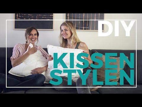 3 Arten eure Kissen zu stylen: mudcloth malen, sticken, mit Bleiche | DIY | Jelena Weber