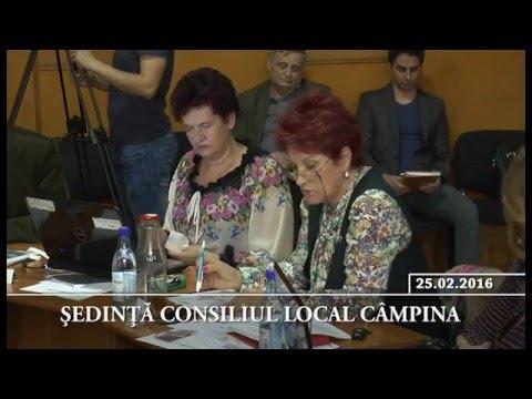 Ședința Consiliului Local Câmpina din 25 februarie 2016