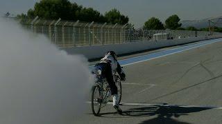 フェラーリ VS 自転車!勝ったのは自転車!?