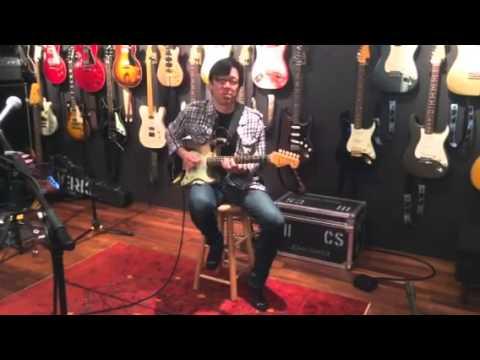 Tomo Fujita in STUDIO CONTINUUM ,two rock john mayer sig proto ,black one ,ver1