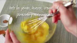 Cómo hacer tarta de huevo (quiche)