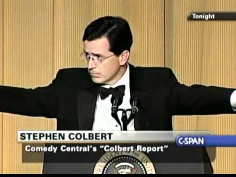 Stephen Colbert At The White House Correspondents Dinner.