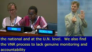 Anne Sizomu's Intervention at HLPF 2019: http://webtv.un.org