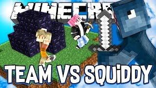 TAKING OUT A WHOLE TEAM!! - BEDWARS MINECRAFT MINI GAME!! W/AshDubh