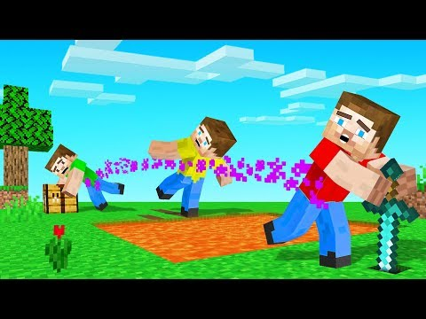 Playing MINECRAFT While ATTACHED To Your FRIENDS (hard mode)
