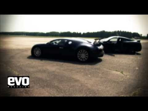 0 Evo Magazine   Bugatti Veyron vs Nissan GT R Video