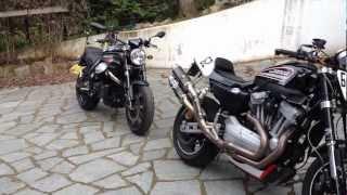 8. Moto Guzzi Griso 8v SE vs Harley Davidson XR1200R SOUND
