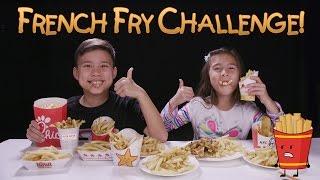 FRENCH FRY CHALLENGE!!! w/ Homemade Zucchini Fries Prank!