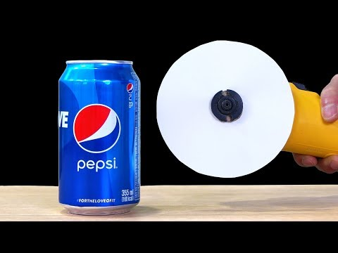 WHAT CAN YOU CUT WITH PAPER? - Experiment: PEPSI vs PAPER