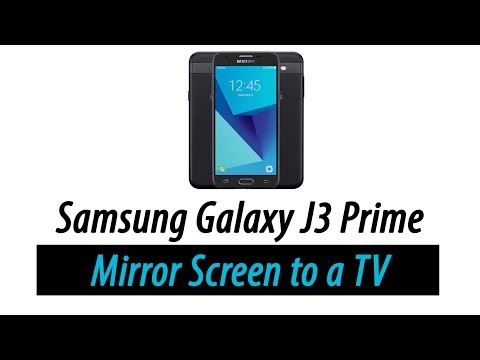 Galaxy J3 Prime - How To Mirror Your Screen To A TV