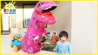 GIANT LIFE SIZE PINK DINOSAUR Family Fun kids pretend play