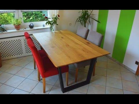 Designer-Tisch selber bauen | Holz und Metall | Musikvideo