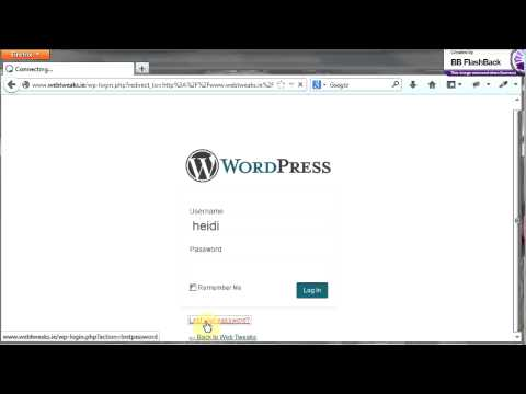 how to login to wordpress website