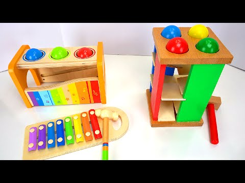 Best Learning Compilation Video for Kids: Ball Pounding Toys, Ice Cream Duplo Lego Blocks, & More!