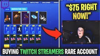 I Donated to a Small Streamer and he SOLD me HIS RARE Fortnite Account...