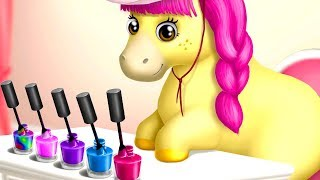 Download Video Play Pony Sisters Hair Salon 2 - Pet Horse Makeover Dress Up Fun Kids Games By TutoTOONS MP3 3GP MP4