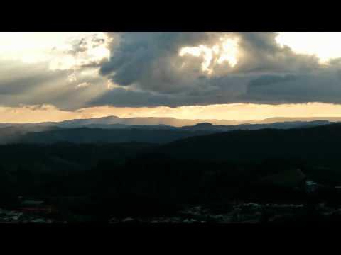 Por do Sol em Apiaí - Visto do alto do Morro do Ouro