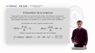 Microeconomía II - La Competencia Perfecta (3) - Alfonso Rosa