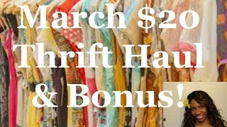March Thrift Haul Try On & $1 Jewelry