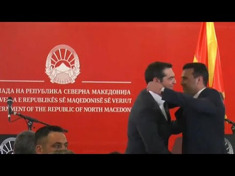 Griechenlang / Nord-Mazedonien: Tsipras besucht die s ...