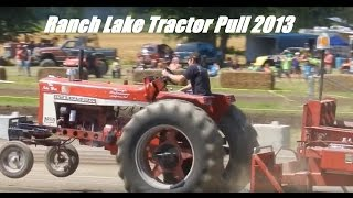 Old International Tractor Pulls Hard As Drag Racer Almost Crashes