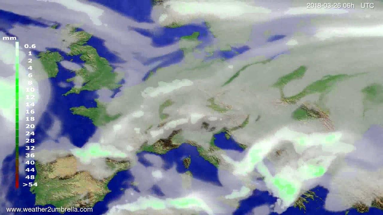 Precipitation forecast Europe 2018-03-23