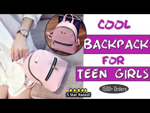 Fashionable Girls Backpack 2018   High Quality Leather Backpack for teenagers  