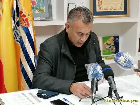 Lectura Manifiesto 25N, a cargo de Jenaro Orta, Alcalde de Isla Cristina.