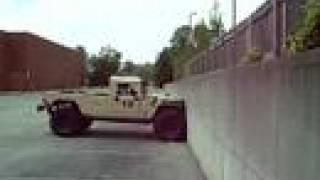 Badass Humvee Climbing Vertical Wall