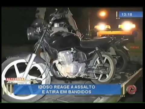 Idoso reage a assalto e atira em bandidos - 11/08/2016
