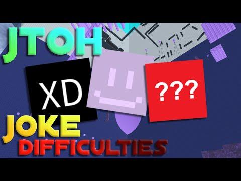 JToH Joke Difficulties - Easiest to Hardest