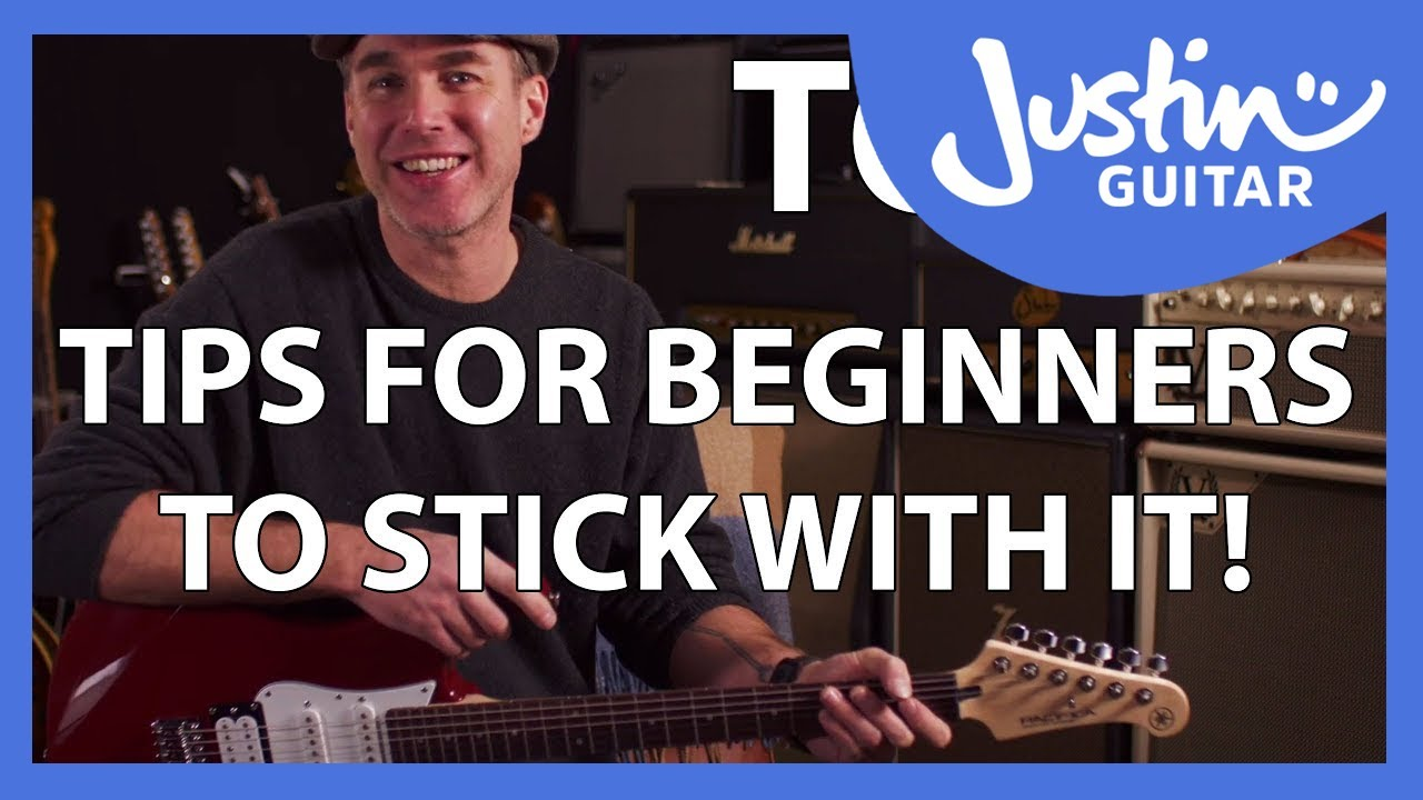 Top 5 Tips For New Guitarists To Stick With It! Don't give up!