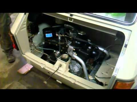 Polski Fiat 126- 1976 összeszerelés utáni első indítás