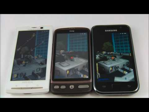 Samsung Galaxy S vs HTC Desire vs Sony Ericsson Xperia X10 - performance test