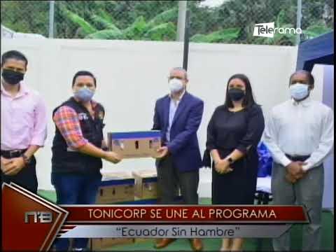 Tonicorp se une al programa Ecuador sin hambre