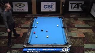 2014 CSI USBTC 9 Ball: Justin Bergman Vs Dennis Orcollo