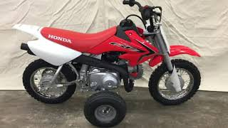 4. First Look! 2018 Honda CRF50F training wheels