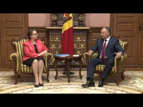 Președintele  Republicii Moldova, Igor Dodon s-a întîlnit cu reprezentantul UNICEF în Republica Moldova, Nune Mangasaryan