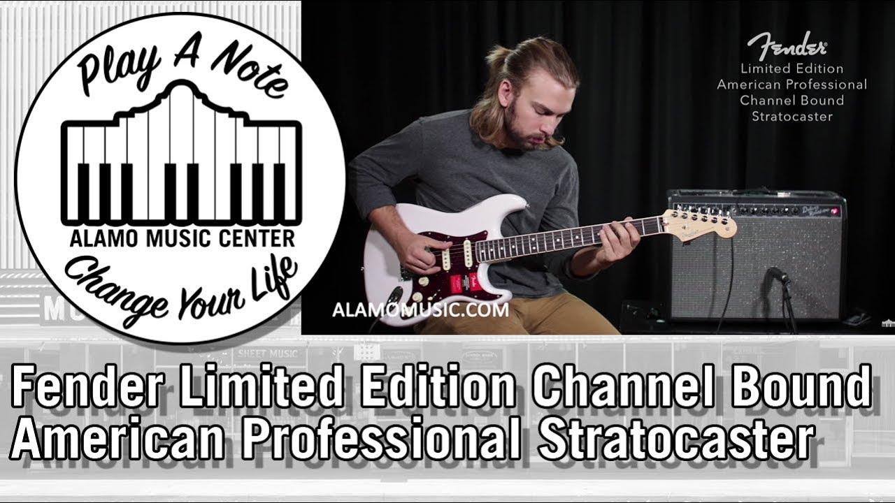 New For 2018 Fender Limited Edition American Professional Stratocaster Electric Guitar Demo