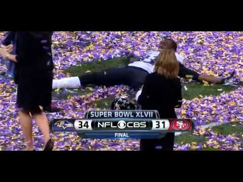 Viral of the Day: Excited Raven Makes Confetti Snow Angel at Super Bowl 2013