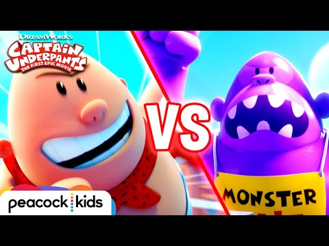 Captain Underpants: The First Epic Movie Captain Underpants: The First Epic Movie (Clip 'Captain Underpants vs Inflatable Ape')