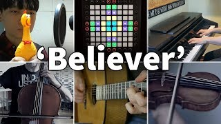 Video Who Played It Better: Believer (Chicken, Violin, Guitar, Piano, Cello, Launchpad) MP3, 3GP, MP4, WEBM, AVI, FLV Maret 2018