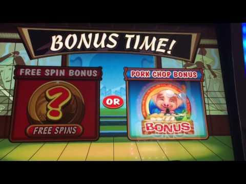 Karate Pig Slot Machine! ~ PORK CHOP BONUS ~ FUN GAME! ~ BIG WIN! ~ KEWADIN Hessel