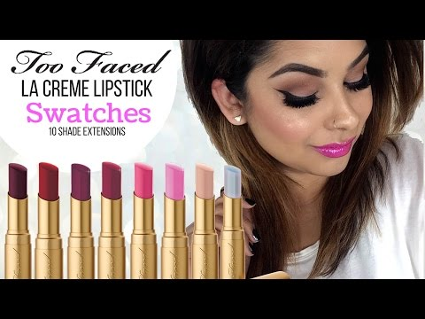 Too Faced La Creme Lipstick Swatches | Spring Collection