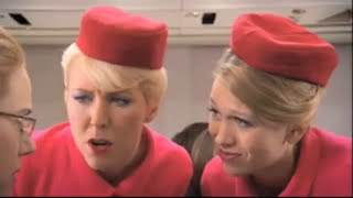 Funny flight attendants.