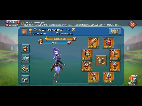 Lords Mobile - KVK Action Rally party B2 Family - Solo fight - Base war - full action 🙏💪😎